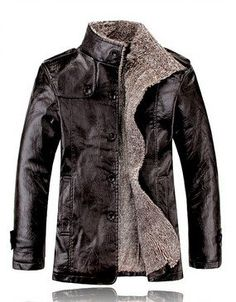 Winter Men Leather Jacket