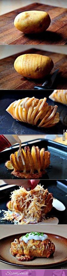 Pyszny przepis na faszerowanego pieczonego ziemniaka!