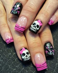 skulls and anchors by Oli123 from Nail Art Gallery