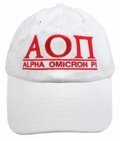 Alpha Omicron Pi Line Hat SALE $18.95. - Greek Clothing and Merchandise - Greek Gear®