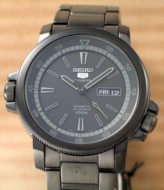 I had the opportunity to handle this stealth Seiko 5 recently and below are some photos that I would like to share. This particular model was designed with a stealth theme but it also comes in diff…