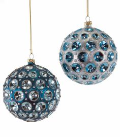 Katherine's Collection Celestial Fantasy Christmas Collection Six Assorted 95mm Round Sculpted Ball Ornaments Free Ship