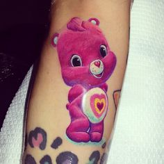 care bear tattoo by jesus