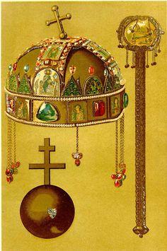 Szent Korona – Wikipédia Hungarian Tattoo, Hungary History, Age Of King, Byzantine Gold, Kunst Online, Heart Of Europe, Austro Hungarian, Folk Fashion, Budapest Hungary