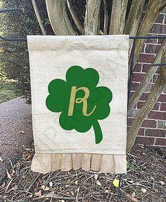 St. Patricks Day Garden Flag, St. Patricks Day Decorations, St. Patrick's Day Decor, Garden Flag, Personalized Garden Flag by PiperGraceGifts on Etsy