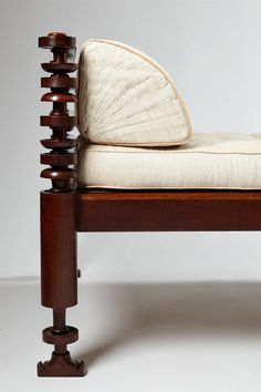 Daybed by Kaare Klint for NM Rasmussen | Denmark, 1917 | Only two examples were produced. This one was made out of Cuban mahogany for painter Albert Naur.