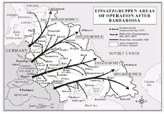 Einsatzgruppen: The Nazi Killing Squads. it's areas of operation after the invasion of Soviet Union in 1941. Map
