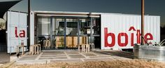 La Boîte cafe, Austin, Texas. Great converted shipping container design.