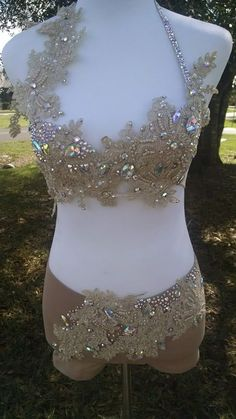 Made to Order Custom Dance Bling Swarovski Rhinestone Lyrical Jazz Costume
