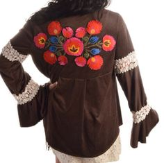 Faux suede, embroidered Judith March jacket! Sizes: SM thru LG - $89  Jade Boutique is a trendy boutique in Trussville, AL that carries ladies and tween clothing, purses, shoes, jewelry, accessories, and more! Call (205) 655-5333 or stop by TODAY!