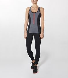 Our scuba inspired workout vest is one hard-working vest. Quick drying for when you're really working up a sweat and with a reflective back panel for outdoor visibility. We love how it slims the waist with its contrast panels too.