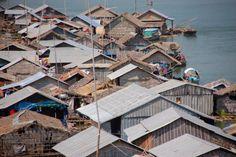 Floating village, Kampong Cham, Cambodia