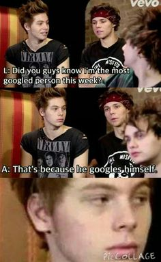 i may have laughed a little too hard>> Michael and Luke look so done with Ashtons shit
