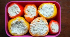 I found a paleo-friendly alternative to the American lunchbox staple that is the tuna salad sandwich: Tuna salad stuffed peppers! Having l...