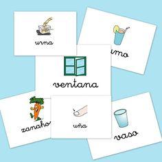 Bits de imágenes para vocabulario. Letra U,V y Z