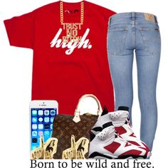 . by trillest-queen on Polyvore featuring polyvore fashion style Nudie Jeans Co. Louis Vuitton Han Cholo