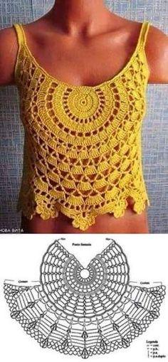 Resultado de imagem para blusa heart crochet pinterest