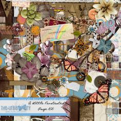 Digital Scrapbooking Studio A Little Frustrated { Page Kit } - Have you ever felt a little frustrated with something or someone and just wanted to SCREAM? I've been there. A lot. My recent level of frustration with my children and their apparent inability to pick up after themselves is what lead to this fun colored, frustrated kit! While leaning towards