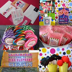 Girl's Pink Elephant Birthday Party