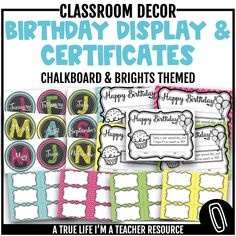 Create a beautiful class birthday display with these circular chalkboard-inspired months!