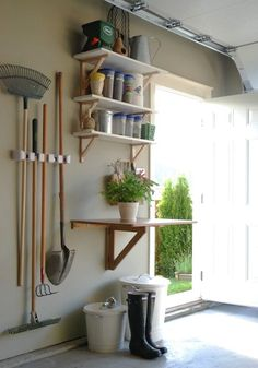 28 Brilliant Garage Organization Ideas | Create a separate garden station! Oh How I wish the people I live with were organized
