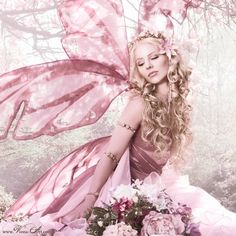 Pretty pink fairy!!! Bebe'!!! A pink delight of a fairy princess!!!