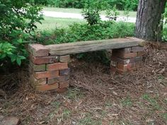 She picked up a few old bricks for free. What you dam … – Container Gardening - She picked up a few old bricks for free. What you dam …- Sie holte kostenlos ein paar alte Backst - Brick Projects, Garden Projects, Brick Crafts, Diy Projects, Garden Crafts, Garden Types, Garden Paths, Herb Garden, Rocks Garden
