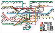 このような田舎者にとって電車に貼ってある東京近郊路線図というのは心強い見方であります。