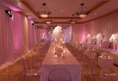 Gorgeous reception decor