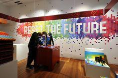 Graphic design and illustration for Reset the future. Award-winning (American MUSE award) exhibit for Universiteitsmuseum Utrecht [university museum Utrecht].