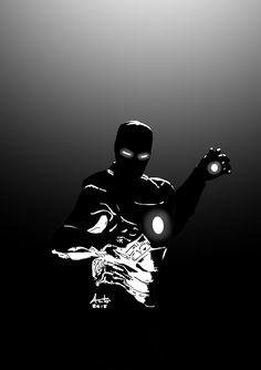 Iron Man in Black by Antonio Palumbo #avengers #ironman #backinblack