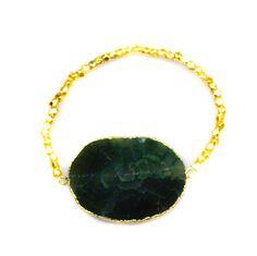 Agate Druzy Bracelet