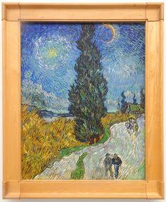 Hoge Veluwe - Museum Kröller-Müller. Vincent van Gogh (1853/1890) - 'Landweg in de Provence bij nacht' - 12/15 mei 1890 - olieverf op doek. Foto: G.J. Koppenaal - 30/8/2017.