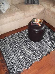 Pendleton Wool Rug Handwoven Black and White 33x56. $70.00, via Etsy.