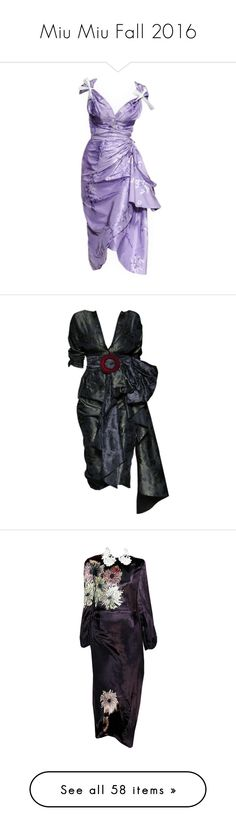 """""""Miu Miu Fall 2016"""" by sella103 ❤ liked on Polyvore featuring dresses, gowns, purple dress, miu miu dress, miu miu, outerwear, coats, jackets, purple and faux fur coat"""