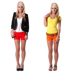 #Outfit Vote! Which bright shorts look would you wear?