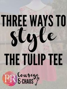 Three ways to style