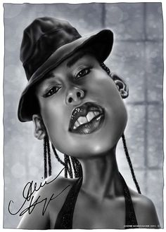Alicia Keys #Caricature #FunnyFaces