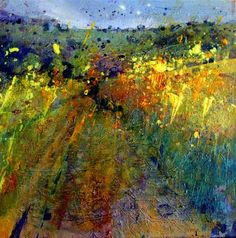 Lorna Holdcroft, Rapeseed Field on ArtStack #lorna-holdcroft #art