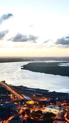 Ribeira e vista para o Rio Potengi, Natal, RN.