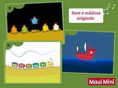 Com estos jogos as crianças aprenderão a descobrir o conceito de causa e efeito - Maui Mini App Jogos Educativos.