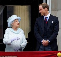 Queen Elizabeth and her grandson Prince William.