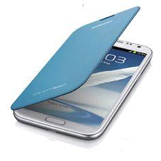 9f3ae6897b5 Funda Samsung Galaxy Note 2 Original Flip Cover - Azul Los Originales,  Fundas, Cargador