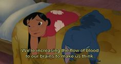 Lilo&Stitch: increasing the flow of blood to our brains