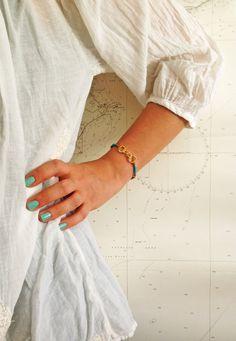 Handcuff charm bracelet by MASTICA on Etsy, $12.00