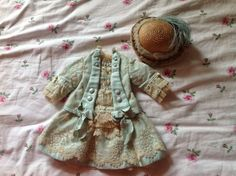 Wonderful dress and hat for Jumeau, Bru, Steiner dolls and other French Bebes