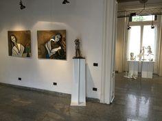 Esposizione lastre in ottone e sculture