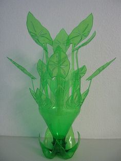 Plastic bottle sculpture