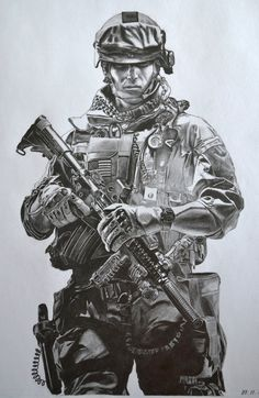 My pencil drawing of BATTLEFIELD 3 soldier. Army Tattoos, Military Tattoos, Warrior Tattoos, 3d Tattoos, Sleeve Tattoos, Art Drawings Sketches, Pencil Drawings, Soldier Tattoo, Soldier Drawing