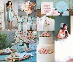 Pale pink and baby blue